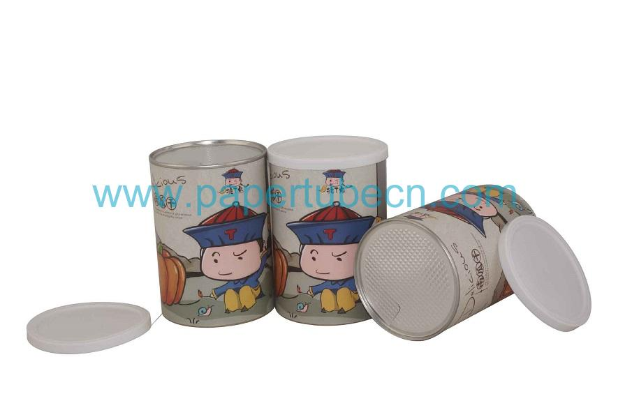 Custom Canister Paper Dried Pumpkin Tube Packaging Cans For Food