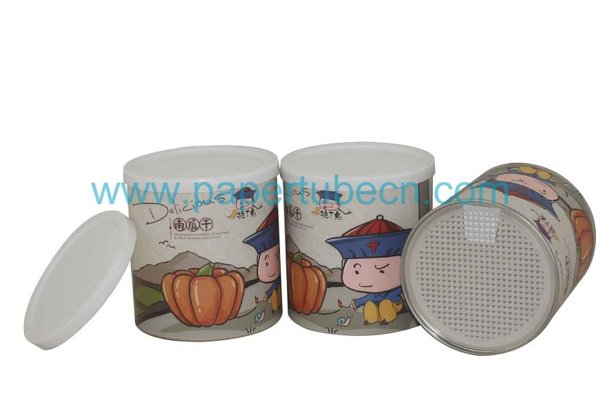 Dried Pumpkin Can Packaging Paper Tube