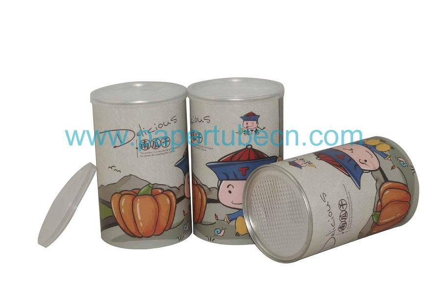 Paper Tube Canister For Dried Dumpkin Packaging