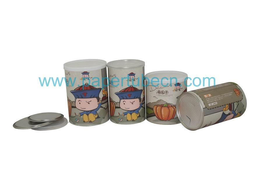 Paper Tube Packaging Canister For Dried Dumpkin