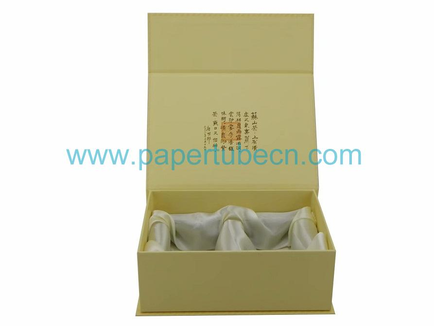 Gift Box with silk fabrics polystyrene foam