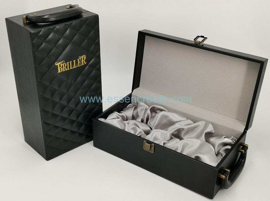 PU Thread Line Leather Packing Box