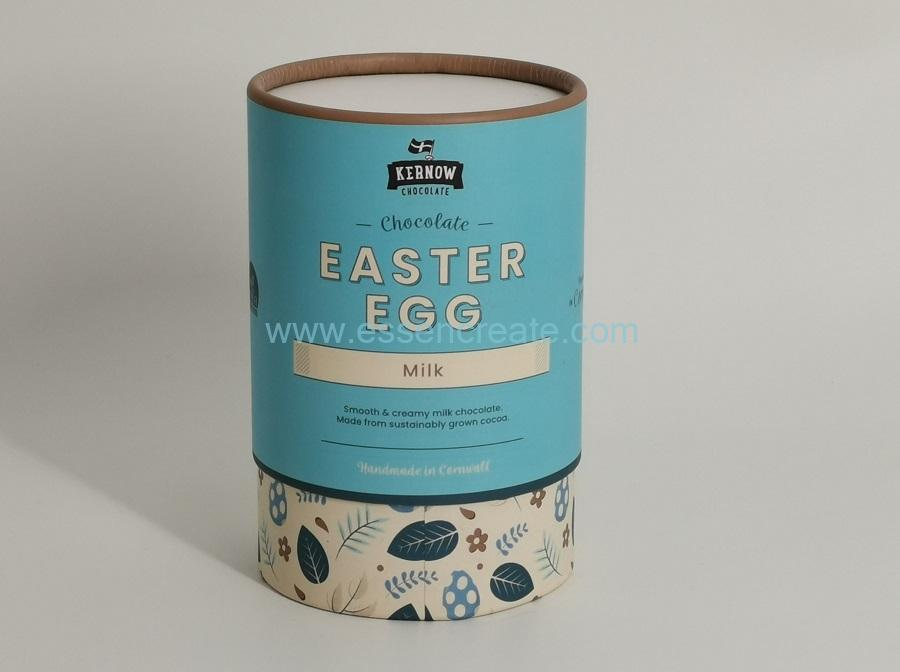 Easter Egg Milk Chocolate Packaging Round Tube Box