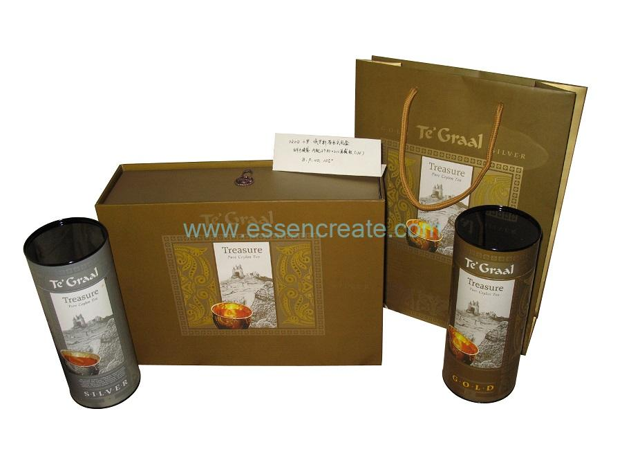 Tea Cans Packaging Box with Bag