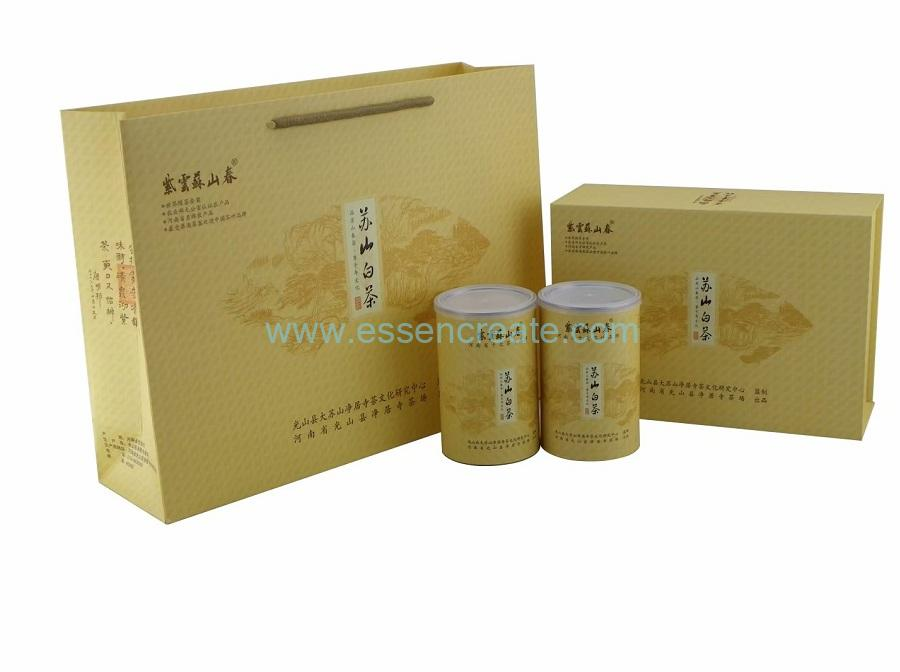 Tea Cans Packaging Luxury Cardboard Box with Gift Bag