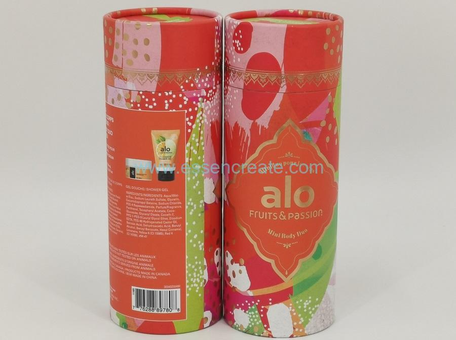 Body Cream and Shower Gel Packaging Paper Tube