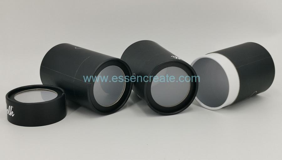 Round Cardboard Tube Packaging with Window