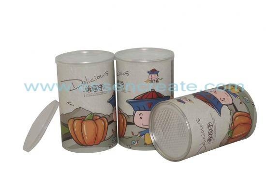 Dried Pumpkin Paper Tube Packaging Cans