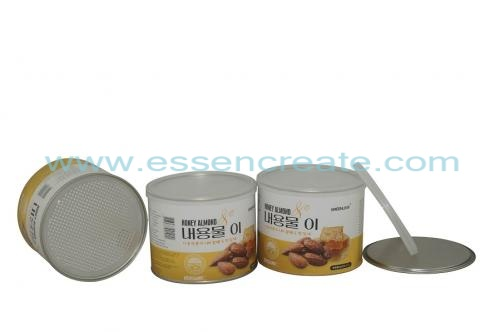 Almond Packaging Canister Paper Tube