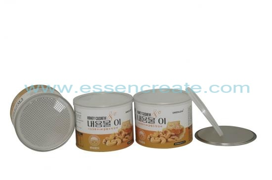 Paper Tube  Cashew Packaging Canister