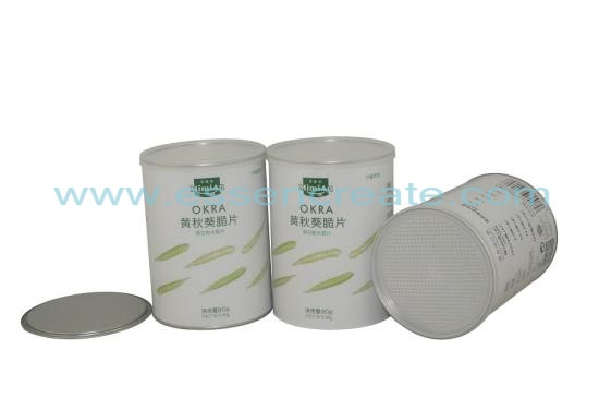 OKRA Canister Packaging Composite Paper Tube