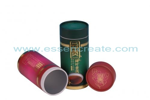 Rolled Edge Cans Pu'er Tea Paper Tube Tin Canister