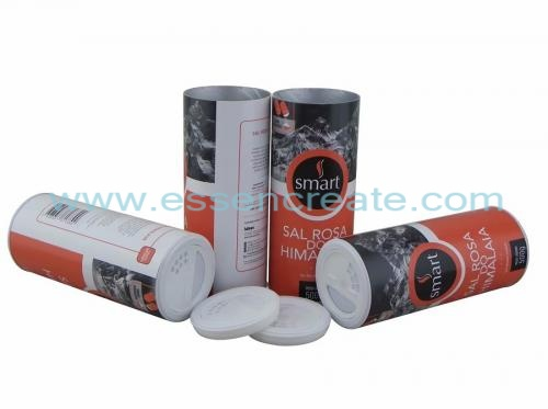 Cylinder Cardboard Salt Packaging Shaker Tube