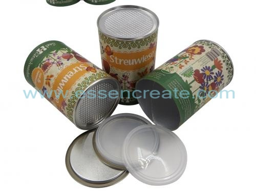 Easy Peel Off Paper Canister