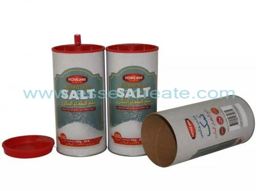 Plastic Spout Salt Packaging Paper Canister