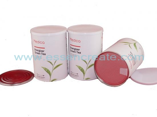 Tube Green Tea Composite Paper  Canister