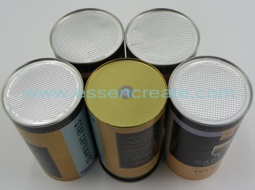 Coffee Paper Cans with Exhaust Valves