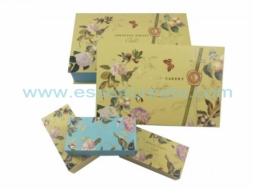 Foldable White Card Mooncake Packaging Gift Box